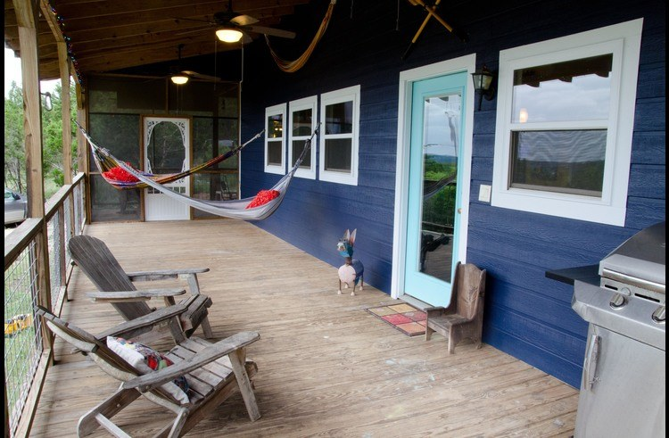 Hammocks on the shady wrap-around porch