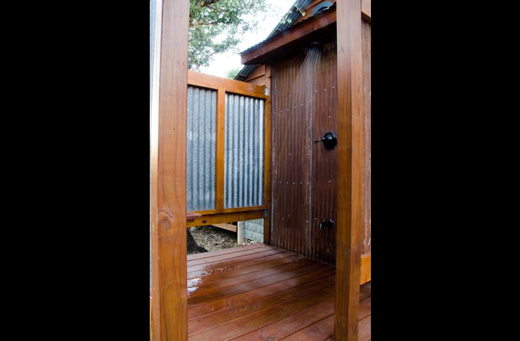 The outdoor shower, room for two!