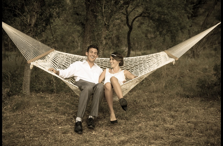 Relax in the hammock for two!
