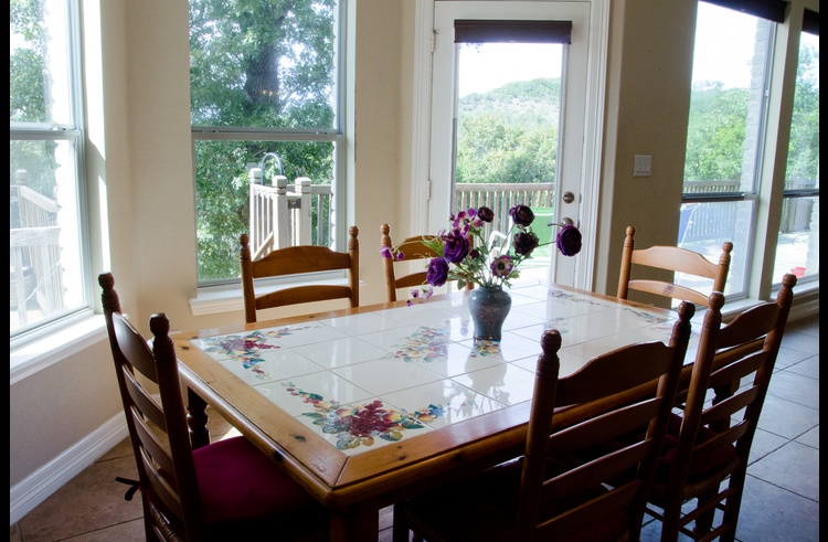 The dining area is totally open to the spacious kitchen and living areas - great for entertaining!