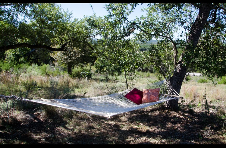 The hilltop breeze makes this hammock spot super dreamy...