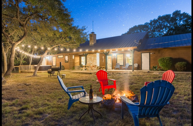 The backyard is THE place to relax! 5 private acres of vacation bliss.