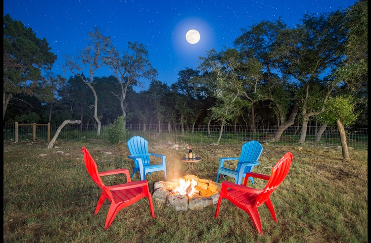 Sit by the fire and enjoy the stars in our dark sky certified community.