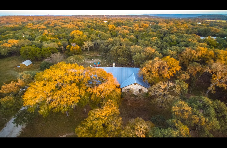 Stargazer is surrounded by trees, nature and Hill Country beauty.