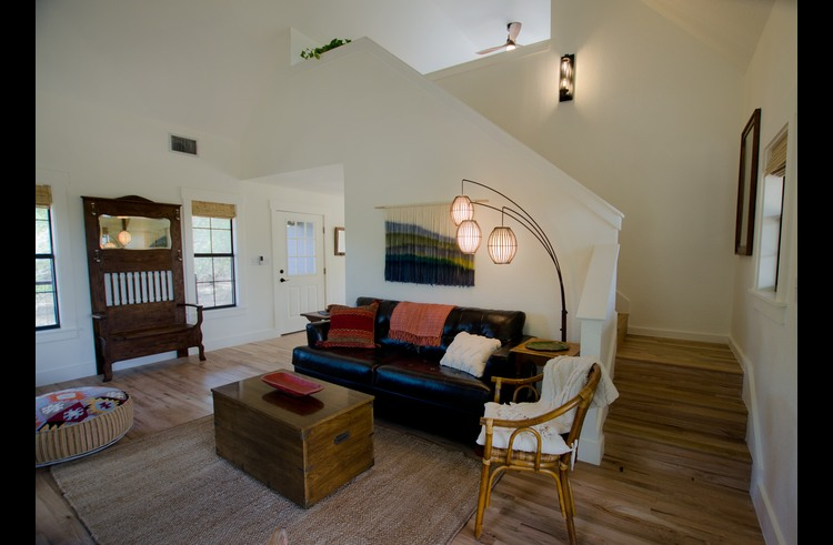 The upstairs loft and master suite is visually private from the rest of the home