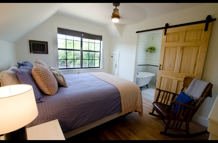 Upstairs master suite loft with hilltop views and great natural light.