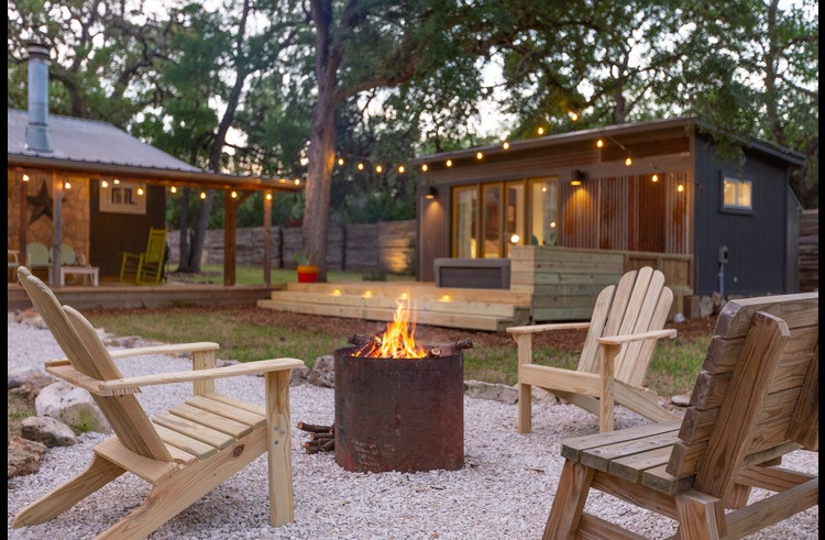 Mood lighting and campfires are our recipe for a perfect evening.
